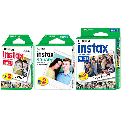 Fujifilm Instax Mini Wide Square Film Sheet Instant Film for Fuji Camera Printer