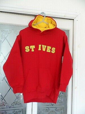 St Ives Life Guard Red Hoodie ,Size 9/11 Childs ,Made By No Worries ,Vgc
