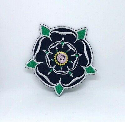 YORKSHIRE WHITE ROSE COUNTY Embroidered BACKPACKERS FLAG SHIELD SEW ON PATCH