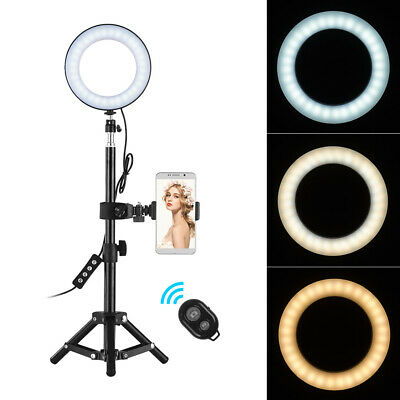 "ZOMEI Dimmable 6"" LED Ring Light Lighting Kit w/Tripod Stand Selfie Youtube Live"