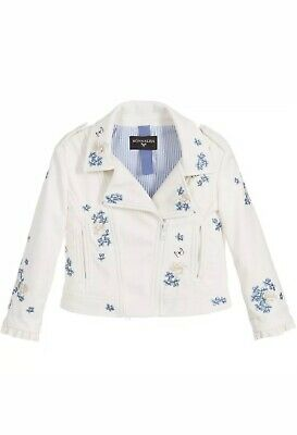 Monnalisa Donald Duck Faux Leather Ivory Jacket 12 Years BNWT £206