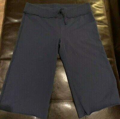 OLD NAVY Cropped Lounge Pants Navy Size Medium