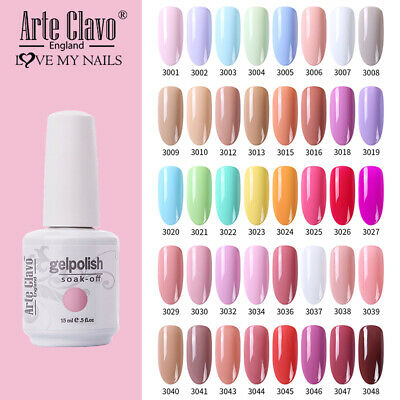 Polish Nail Art Gel Gel Polish Arte Clavo Varnish LED UV Nail  Soak Off New 15ml