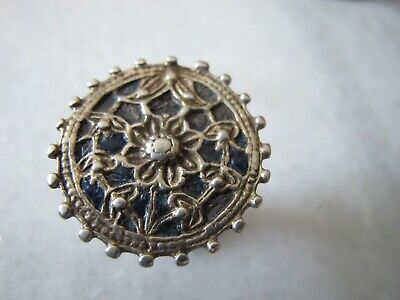 Antique Byzantine Silver Enamel Ring