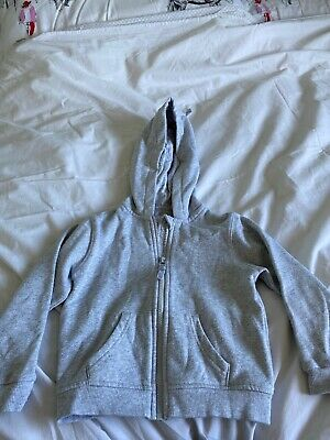 Marks & Spencer M&S Girls Grey Glitter Sparkle Hoodie Hoody Age 3-4
