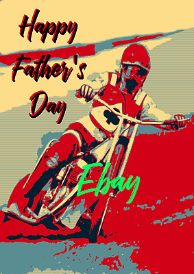 Father's Day Speedway Card with envelope #42