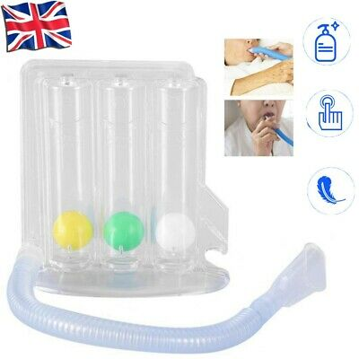Breathing Lung Exerciser 3 Ball Spirometer Respiratory Therapy Deep Breath UK