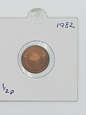 1982 - 1/2p NEW PENNY COIN - ELIZABETH II - out of circulation