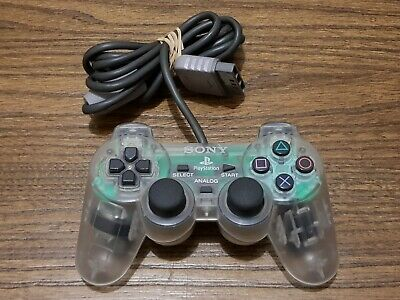 Sony Playstation 1 (PS1) Genuine Clear Dualshock Controller