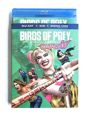 Birds Of Prey HARLEY QUINN Blu Ray + DVD + Digital With Slip Cover New Sealed