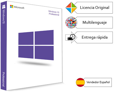 Windows 10 Pro Original 32/64 bits - Licencia de activación