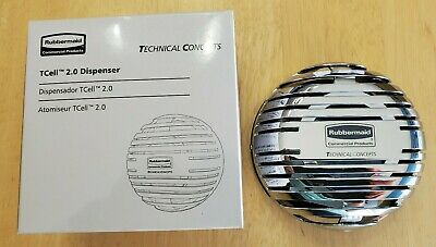 Chrome Rubbermaid Commercial Products TCell 2.0 Dispenser Technical Concepts NIB
