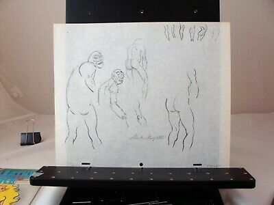 Frank Frazetta signed original model sheet from Bakshi's Fire & Ice circa 1983
