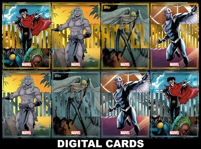 Topps Marvel Collect ESSENTIALS 2020 Series 6 [8 CARD GOLD/SILVER SET]