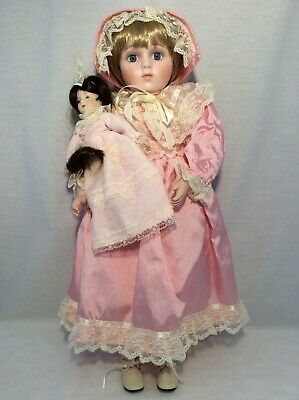 "Vintage CHSN La Collection Artisan 1988 BELINDA 18"" doll limited edition Musical"