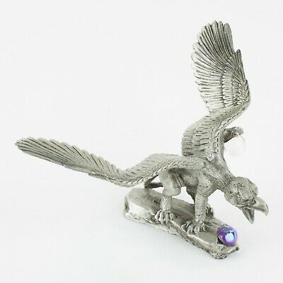 Stalking Griffin   Vintage Fantasy Pewter Figure by KRM   Cast in the USA