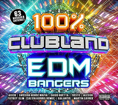 100% Clubland EDM Bangers [Audio CD] Various Artists New Sealed