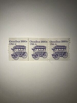 EXTREMELY RARE NEVER USED! omnibus 1880s USA 1c postage stamps!