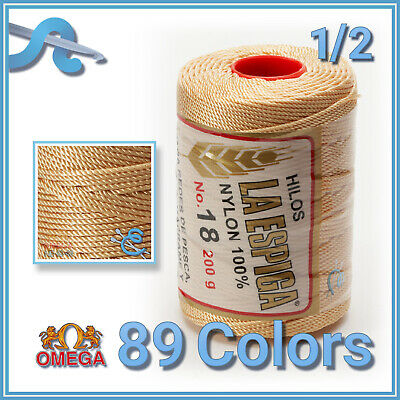 Espiga No.18 - 100% Nylon Omega Cord Thread for Knitting and Crochet | Strong Me