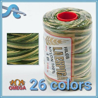 Espiga No.18 [Variegated] - 100% Nylon Omega Cord Thread for Knitting and Croche