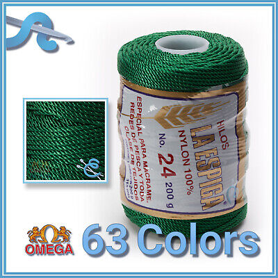 Espiga No.24 - 100% Nylon Omega Cord Thread for Knitting and Crochet | Strong Me