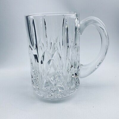 """Waterford Crystal Marquis Brookside 5 3/4"""" Tall Glass Beer Stein Mug 20 oz."""