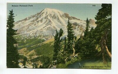 MT RAINIER AND PARADISE VALLEY, RAINIER NATIONAL PARK - unused