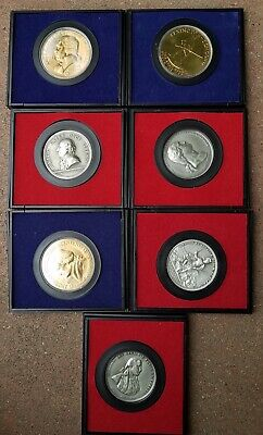 LOT OF 7 America's First Medals & American Revolution Bicentennial Coin & Coins