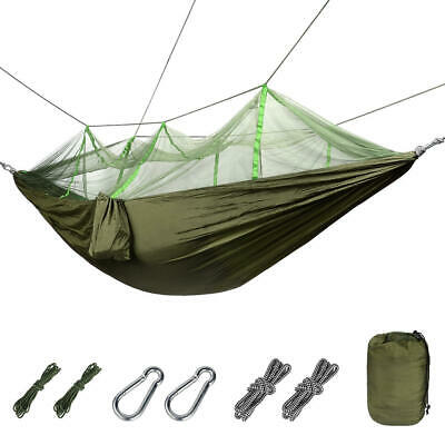 GreenWise Nylon Double Camping Hammock w/ Mosquito/Bug Net , 440 Pounds Supports