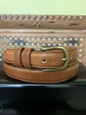 Coach Mans/Womens 6611 Brown Glove Tanned Cowhide Leather Belt Sz 34