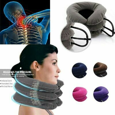 Air Inflatable Pillow Cervical Neck Head Pain Traction Support Brace Device Hot