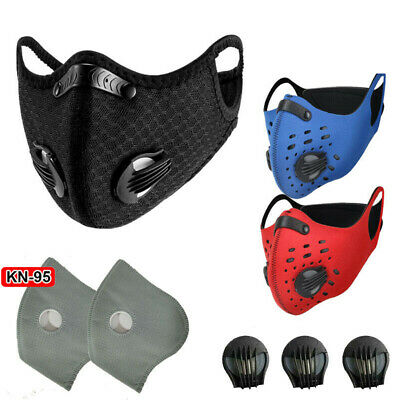 Washable Mouth Cover Cycling Face Shield & Breathing Filters innsert Gasket Pad