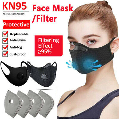 Reusable Half Face Mouth Cover Filter with Activated Carbon Protective Filter US