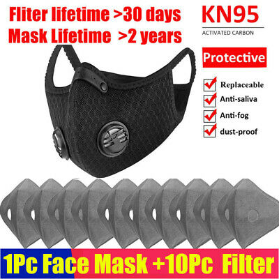 Anti-pollution Cycling Face Cover Activated Carbon Filter Reusable Mouth Shield