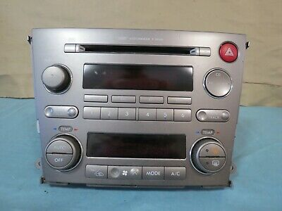 ✅ 05-06 Subaru Legacy Radio 6 CD MP3 AM FM Player Climate Console OEM 86201AG61A