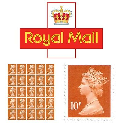 Royal Mail 25 x 10p Postage Stamps ✔️ Self Adhesive Sheet✔️ Genuine ✔️ Brand New