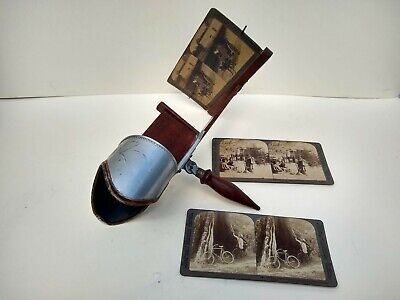 VICTORIAN 3 DIMENSIONAL VIEWER - WITH 3 VIEW/CARDS dated 1904.