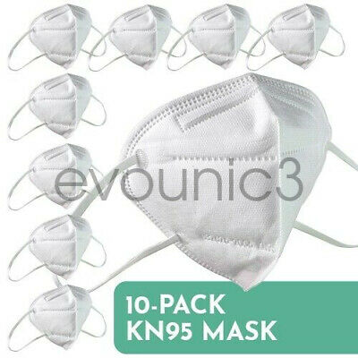 KN95 - Folding Respiratory Protective Face Mask - 10 Pack 5-Layers K N95