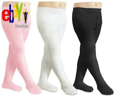 Cozyway Baby Girls Tights Cable Knit Leggings Stockings Cotton Pantyhose For New