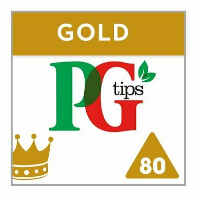 PG Tips Gold 80 Pyramids Tea Bags British 232g English Tea Worldwide Delivery