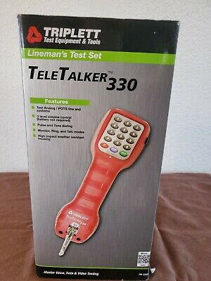 Triplett 3330 TeleTalker 330 Telephone Test Set for Analog / POTS MSRP $115.99