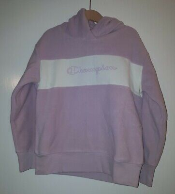 CHAMPION Girls Pink And Cream Fleece Hoodie * AGE 7/8 YEARS OLD* NEW WITH TAGS