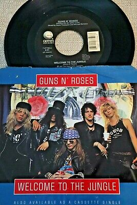 GUNS N' ROSES Welcome to the Jungle / Mr. Brownstone 45 GEFFEN 27759 PIC SLEEVE