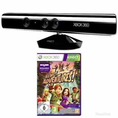 Officiel Capteur Kinect (Xbox 360) + Kinect Adventures - comme Neuf