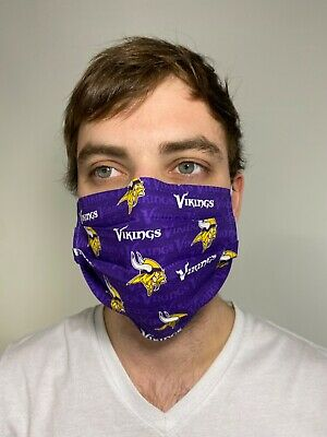 Vikings minnesota Cotton Face Mask Handmade Washable Reusable wire nose Reuse