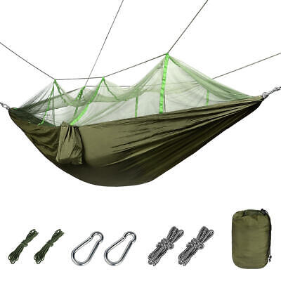 Nylon Double Camping Hammock w/ Mosquito/Bug Net, Supports Up to 440 Pounds