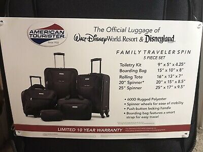 American Tourister Five (5) Piece Spinner Luggage Set