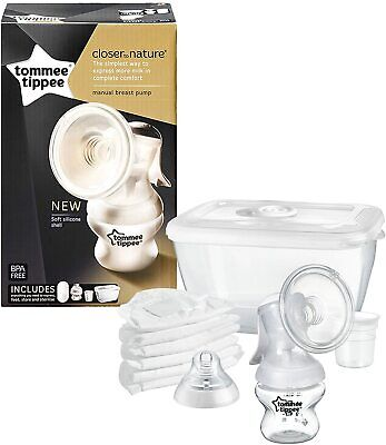 Tommee Tippee Closer To Nature BPA Free Manual Breast Pump With Accessories
