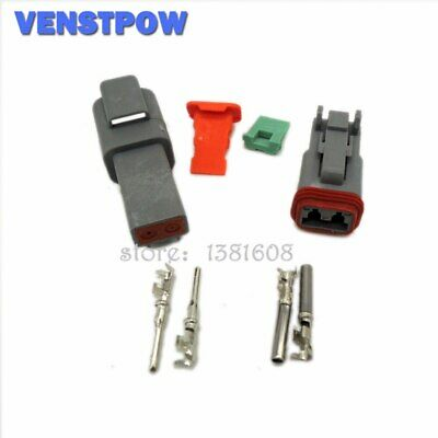 5Sets 22-16AWG Deutsch DT06/DT04 2 Pin Waterproof Electrical Wire Connector Plug