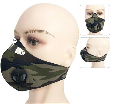 Camo Anti Dust Cycling Bicycle Bike Motorcycle face Shield & Filter Half Scarf